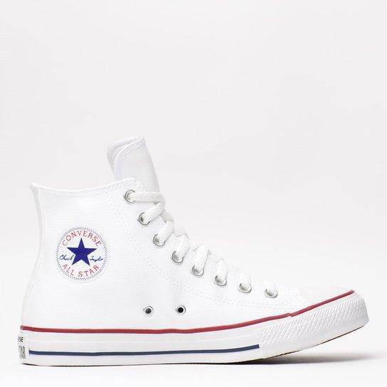 97fd1efef97 Tênis Converse Chuck Taylor All Star Hi Branco Ve - Compre Agora ...