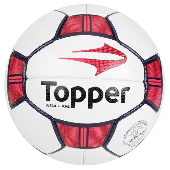 ce4273a454 Bola Futebol Topper Maestro 2 Futsal - Branco+Vermelho
