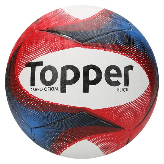 Bola Futebol Topper Slick Campo - Branco e Vermelho - Compre Agora ... 91320d08d558a