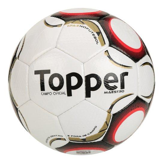 Bola Futebol Campo Topper Maestro TD2 - Branco e Vermelho - Compre ... 5cace9e9fc15e