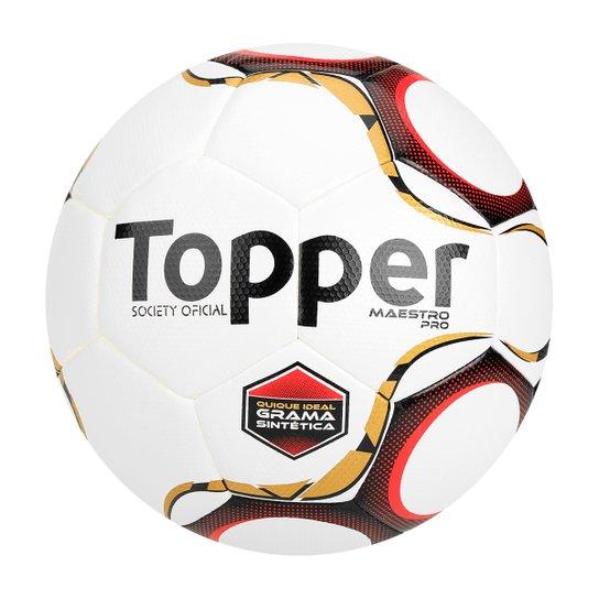 6d75197177b95 Bola Futebol Society Topper Maestro Pro - Branco+Vermelho