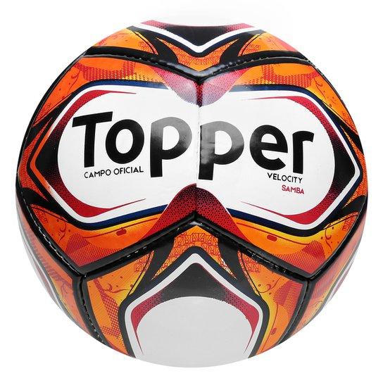 cda04d531a Bola Futebol Campo Topper Samba II TD2 - Branco+Vermelho
