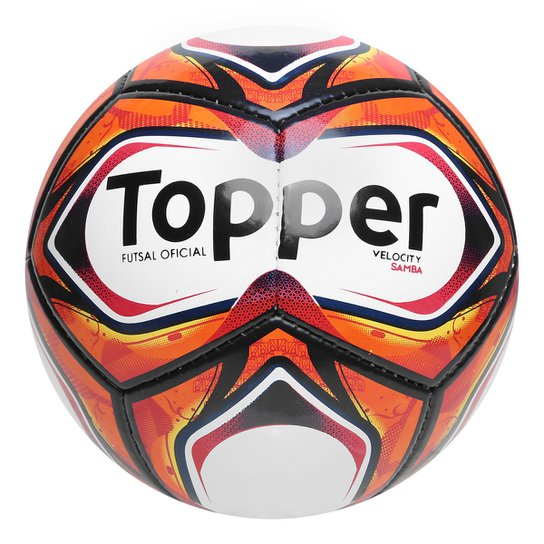 e083f2820c4d5 Bola Futsal Topper Samba II TD2 - Branco+Vermelho