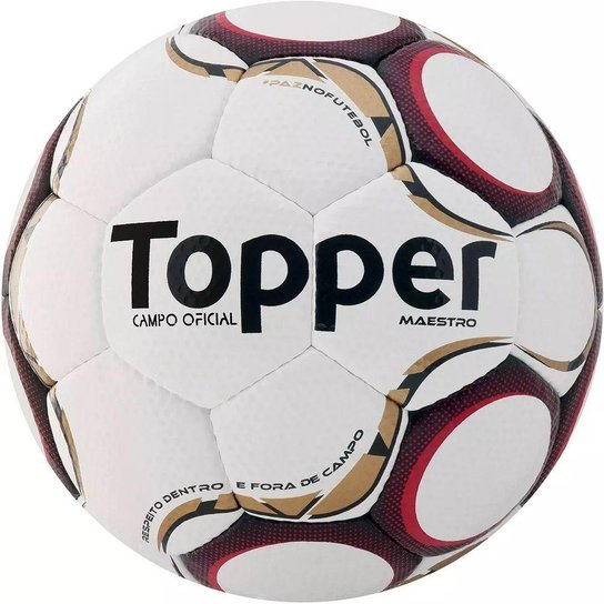 4d7425ee3e637 Bola Campo Topper Maestro TD1 - Branco+Vermelho