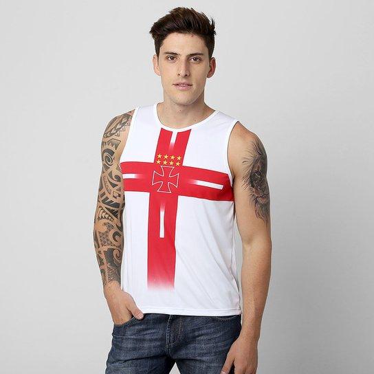 Camiseta Regata Vasco Templária - Branco+Vermelho 728d803900776