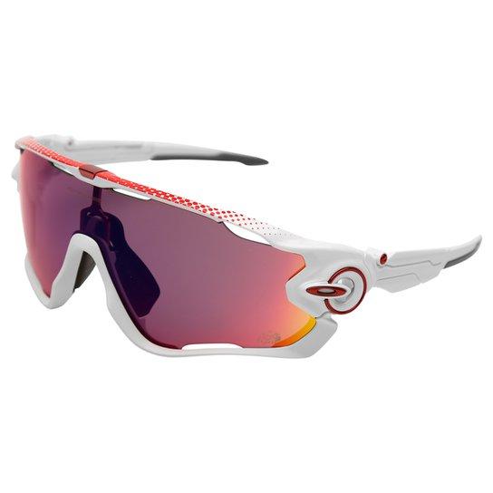 05eed4fa8 Óculos Oakley Jawbreaker - Prizm Road - Branco+Vermelho