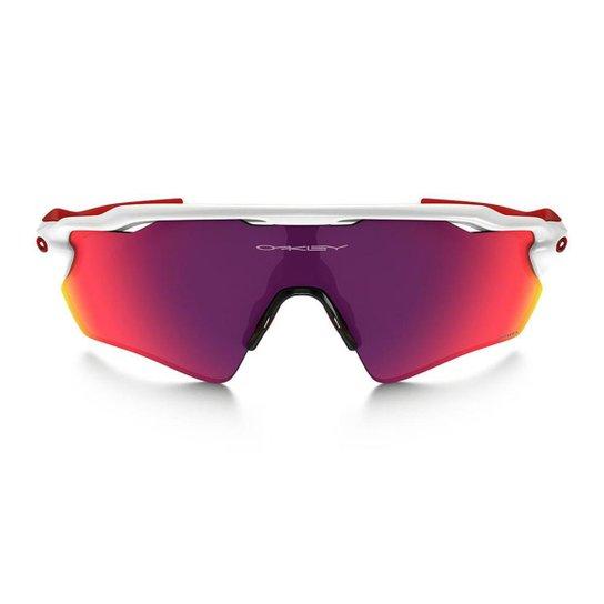 8a1350e042 Óculos De Sol Ciclismo Oakley Radar Ev Path - Branco+Vermelho