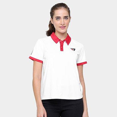 Camisa Polo São Paulo Dry Logo Feminina