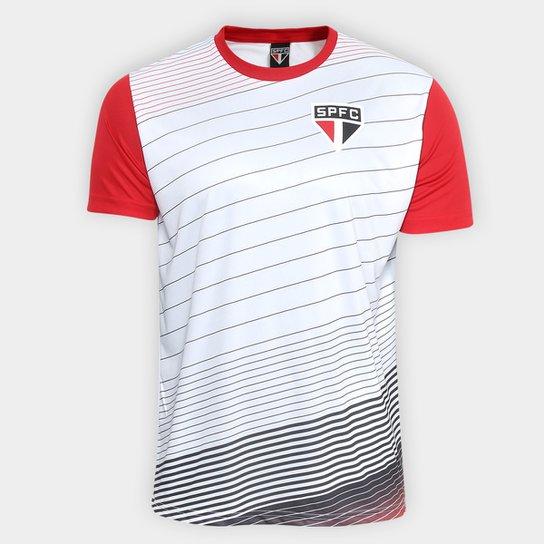 9812f5e5699 Camiseta São Paulo Sovereign Masculina - Branco+Vermelho