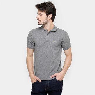 b54274d503788 Camisa Polo Lacoste Mescla Masculina