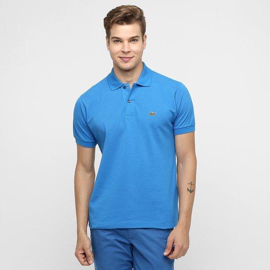 76e33ae0c0 Camisa Polo Lacoste Piquet Original Masculina - Azul Turquesa ...