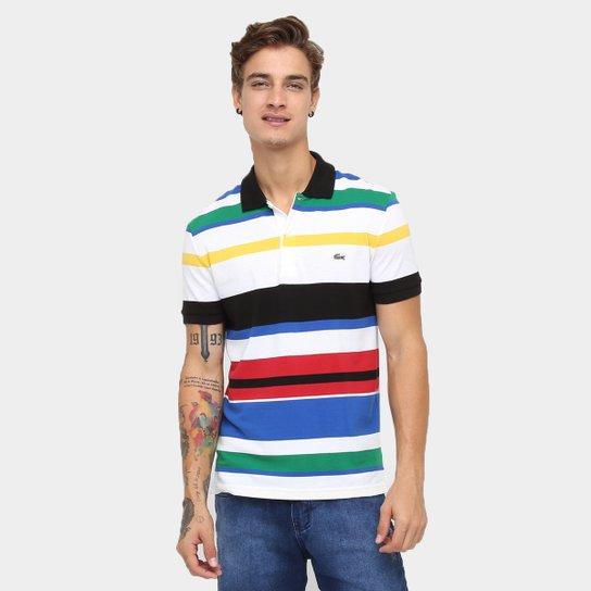 6481f67a22397 Camisa Polo Lacoste Piquet Listrada Slim Fit - Compre Agora   Netshoes