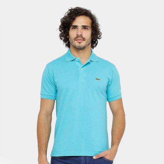 Camisa Polo Lacoste Piquet Original Fit Masculina - Azul Turquesa ... 082cfff0ba