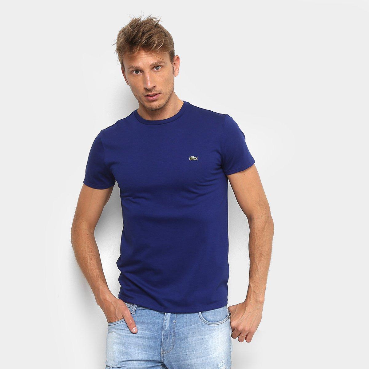 fa0fc2a0859b9 Camiseta Lacoste Básica Jersey Masculina. undefined