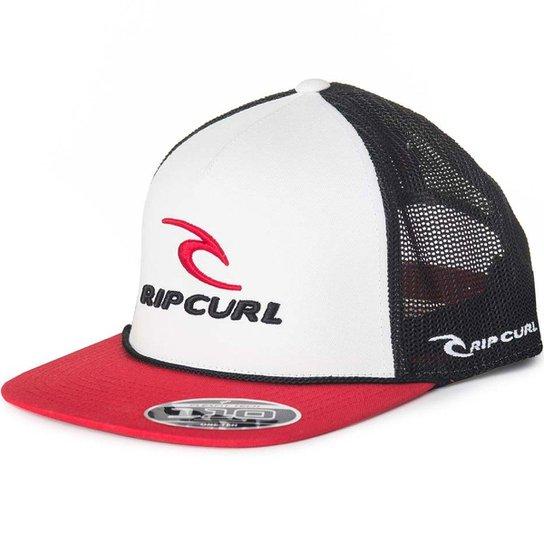 94012e9370770 Boné Rip Curl Rc Classic Trucker - Branco+Vermelho