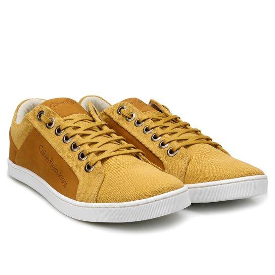 f96fb47b1f58f Sapatênis Calvin Klein Basic Masculino - Mostarda - Compre Agora ...
