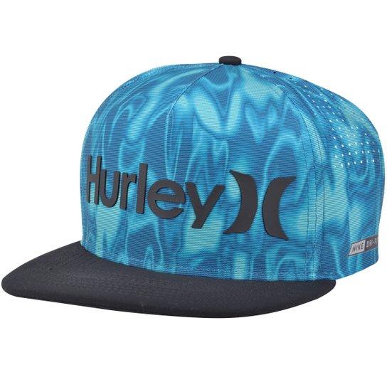 Boné Hurley Water Dri-Fit Aba Reta - Azul Turquesa - Compre Agora ... f5326d854dd