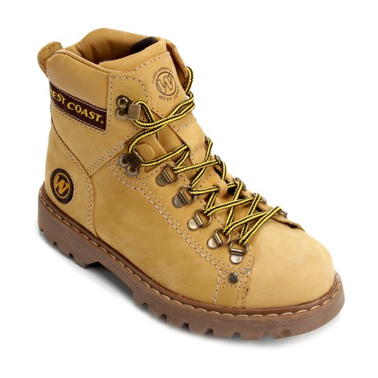 df65ef5c26d99 Bota Couro Coturno West Coast Worker Masculina - Marrom | Netshoes