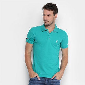 Camisa Polo Opera Rock Piquet Bordada Masculina 84efefb0b89