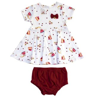 Vestido Infantil Cherry Kitten Grow Up 15cea62aaae