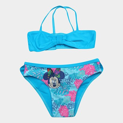 Biquíni Infantil Disney Tip Top Estampa Minnie Top + Calcinha