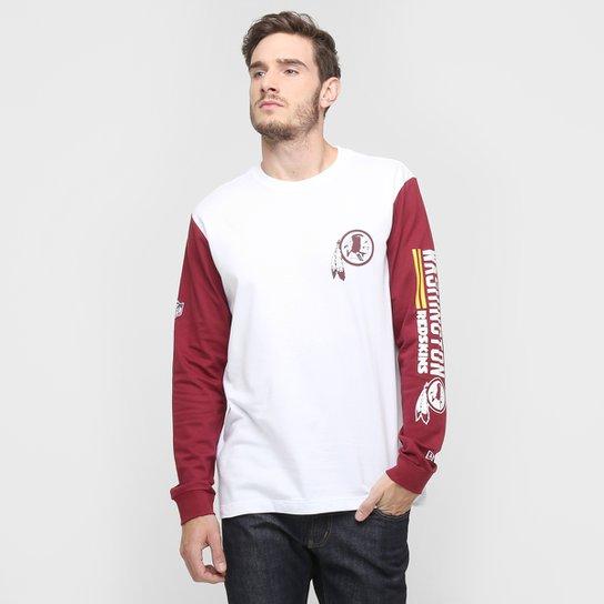 de4826c0ee Camiseta New Era NFL Bicolor Washington Redskins M L - Compre Agora ...