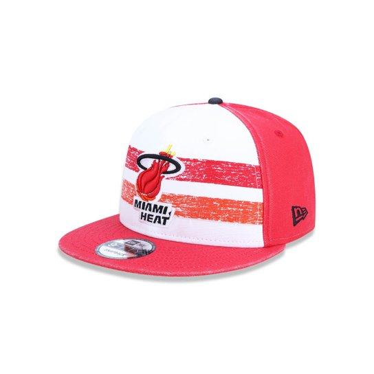 82e498a1a02c3 Boné 950 Miami Heat NBA Aba Reta Snapback New Era - Compre Agora ...