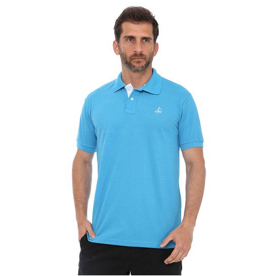 Camisa Polo Clube Náutico Slim Masculino - Azul Turquesa - Compre ... eeafefcb373