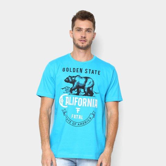 798ad68524 Camiseta Fatal Masculino Urso Golden State Masculina - Azul Turquesa