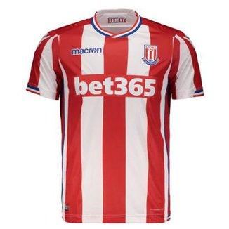d4cdb28fcf Camisa Macron Stoke City Home 2018 Masculina