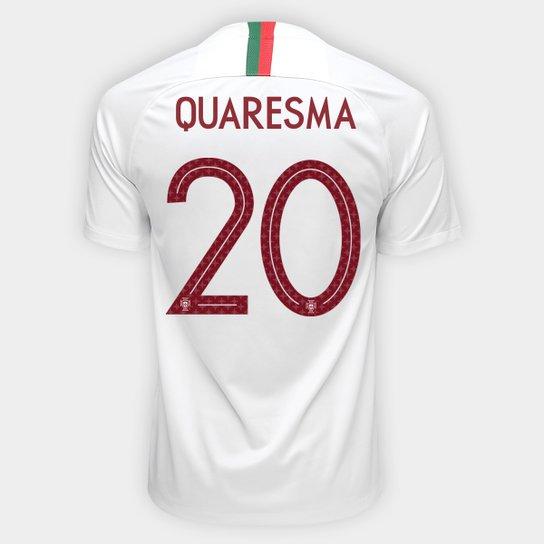 886ed8eb6 Camisa Seleção Portugal Away 2018 n° 20 Quaresma - Torcedor Nike Masculina  - Branco+