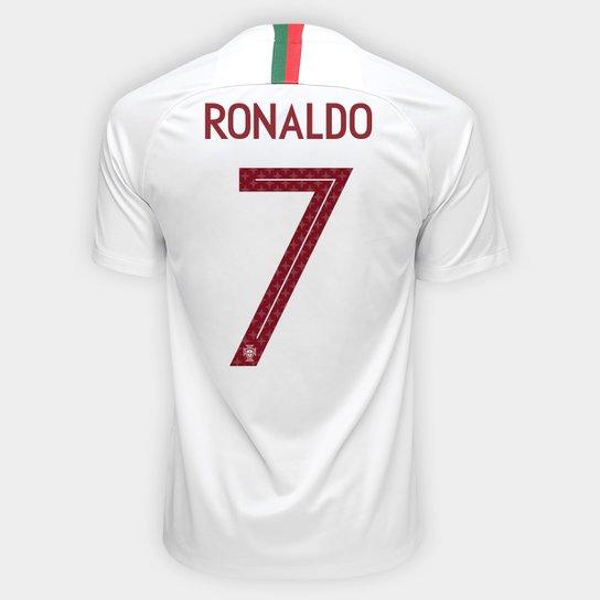 Camisa Seleção Portugal Away 2018 n° 7 Ronaldo - Torcedor Nike Masculina -  Branco 9977b707e4fb4
