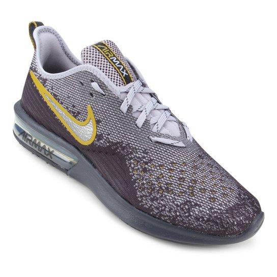 53bd7e0c003a0 Tênis Nike Air Max Sequent 4 Masculino - Cinza e Roxo - Compre Agora ...