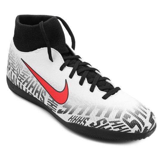 011504fd39c Chuteira Futsal Nike Mercurial Superfly 6 Club Neymar Jr IC - Branco+ Vermelho