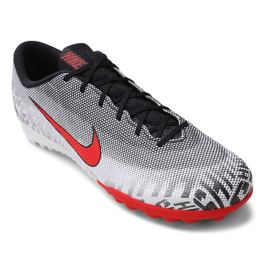240ec30c60317 Chuteira Society Nike Mercurial Vapor 12 Academy Neymar Jr TF -  Branco+Vermelho