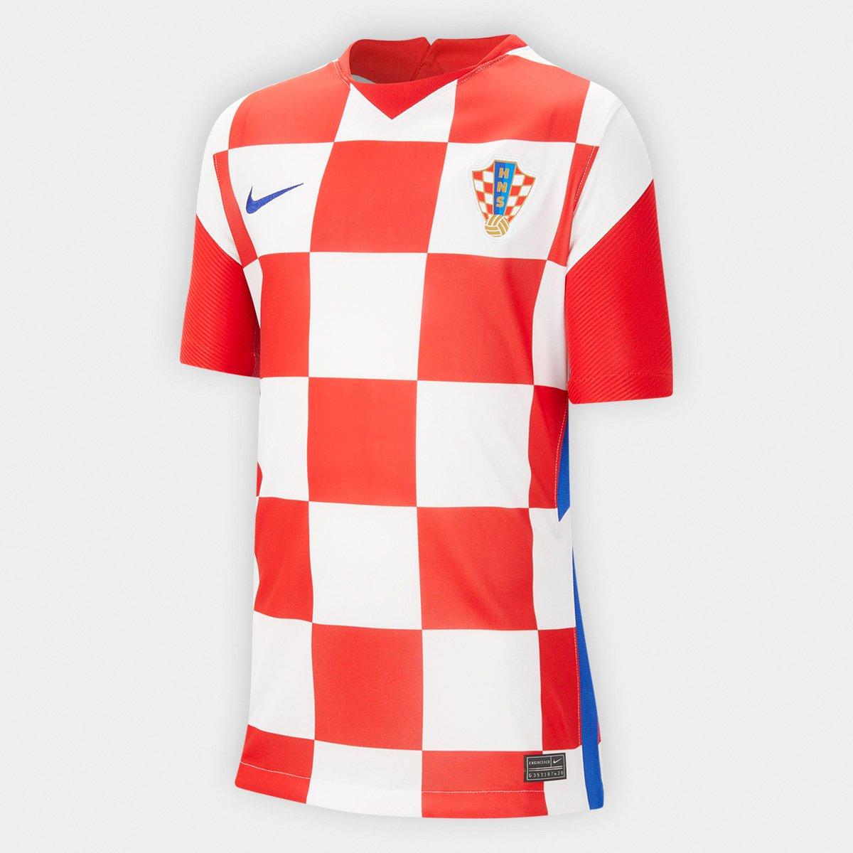 Camisa Seleção Croácia Juvenil Home 20/21 s/n° Torcedor Nike