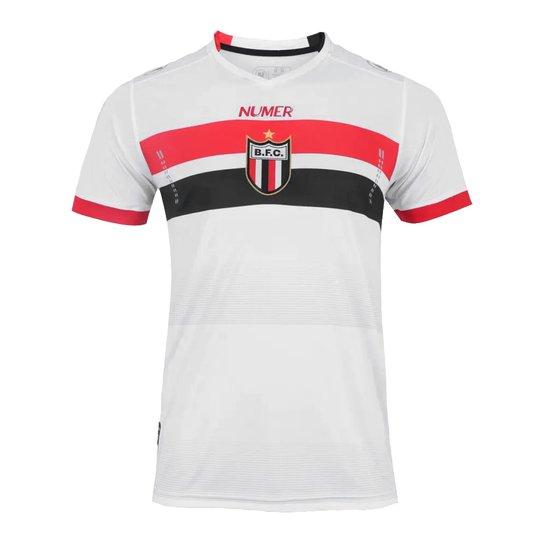 Camiseta Futebol Numer Oficial Botafogo Rb Jogo I 2017 - Branco+Vermelho d42018e692e9c