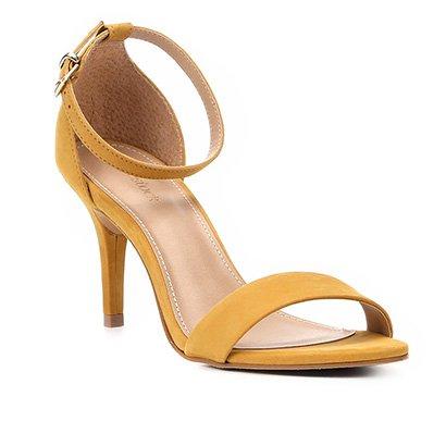 2d6d0d427 Sandália Couro Shoestock Salto Fino Naked Básica Feminina