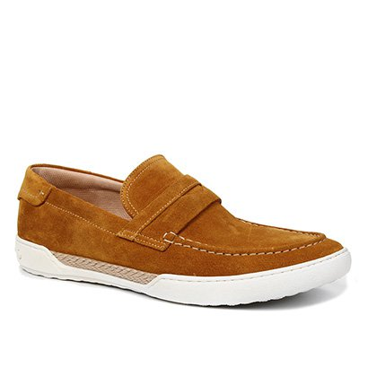 Sapato Casual Couro Shoestock Camurça Tira Masculino