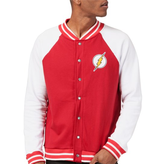 Jaqueta Bomber DC Comics The Flash Central City bandUP! - Branco e Vermelho d7f1fc53561