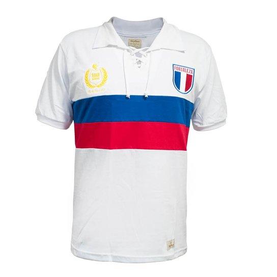 d503f4ca89b Camisa Retrô Mania Fortaleza Centenário - 1923 - Branco+Vermelho