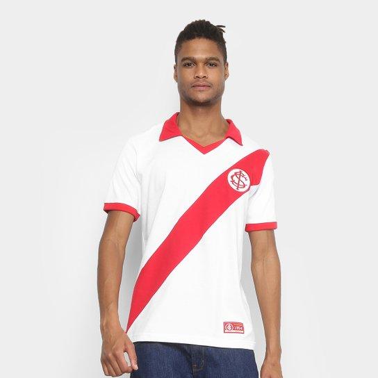 fbe183f0a8a5b Camiseta Internacional Retrô Mania 1954 Masculina - Branco+Vermelho