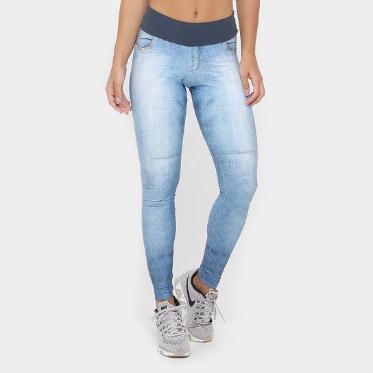 00a687224ccae Calça Legging Live Fuso Jeans Technological Blue Feminina - Compre ...