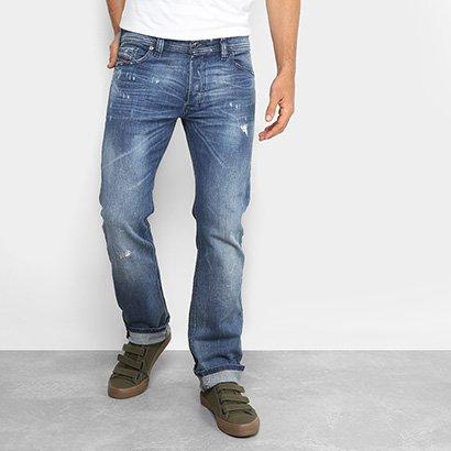 Calça Jeans Reta Diesel Estonada Masculina