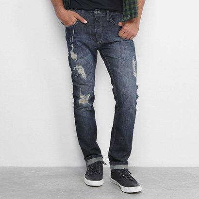 Calça Jeans Reserva Slim Rasgos Masculina