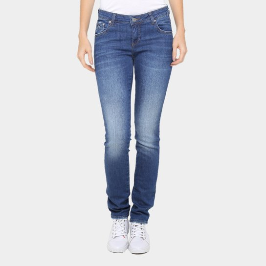f913c2e5f7db5 Calça Jeans Skinny Lacoste Cintura Média Feminina - Compre Agora ...