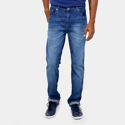 Calça Jeans Lacoste Slim Fit Lavado Masculina