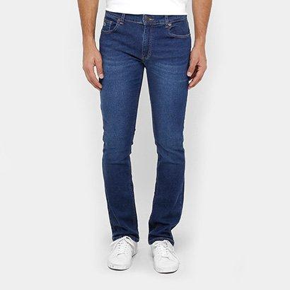 Calça Jeans Reta Lacoste Straight Fit Stone Masculina