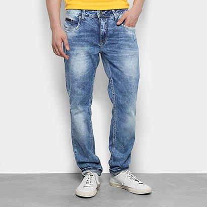 Calça Jeans Skinny Calvin Klein Stone Puídos Masculina