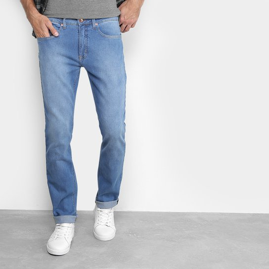 8634a52b8d7e8 Calça Jeans Slim Calvin Klein Estonada Masculina - Azul Claro ...